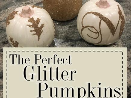 The Perfect Glitter Pumpkins