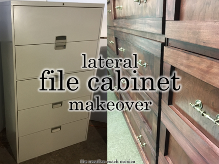 A Lateral Filing Cabinet Makeover- Every Step of the Way