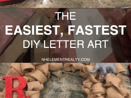 The Easiest, Fastest DIY Letter Art