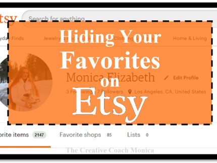 Hiding Your Favorites on Etsy