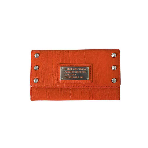 PORTE FEUILLE CUIR ORANGE