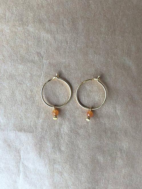Mila øreringe, orange