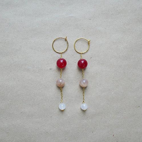 Student øreringe, rød nuance