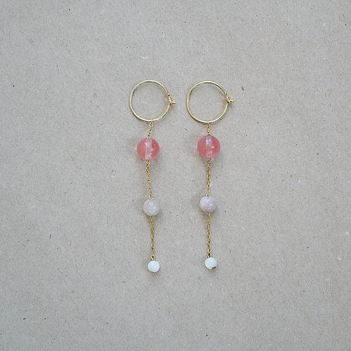 Ella øreringe, lyserød nuance