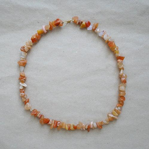 Eudora halskæde, orange-beige