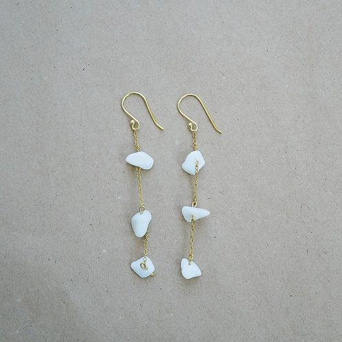 Eleanor øreringe, hvid