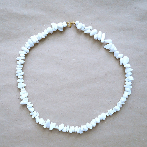 Eudora halskæde, hvid