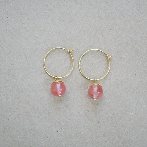 Stella øreringe, lyserød