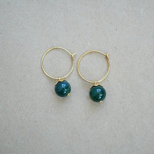 Stella øreringe, mørkegrøn
