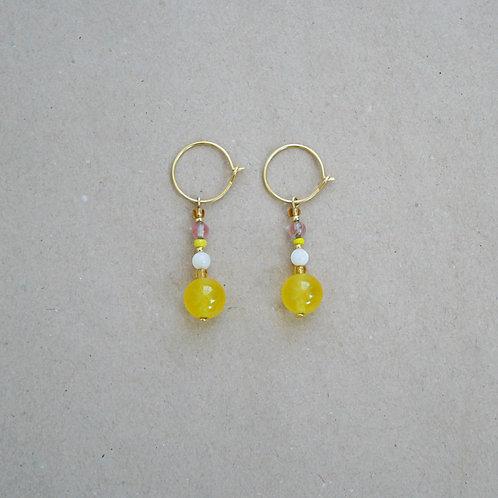 Lara øreringe, gul nuance
