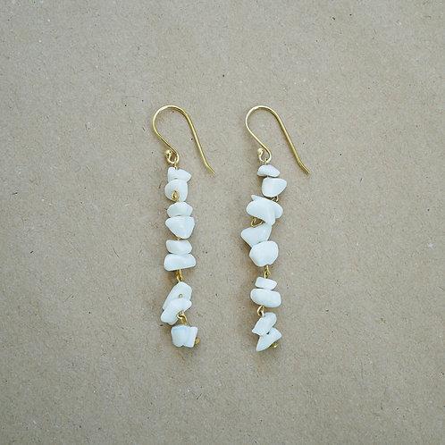 Eudora øreringe, hvid
