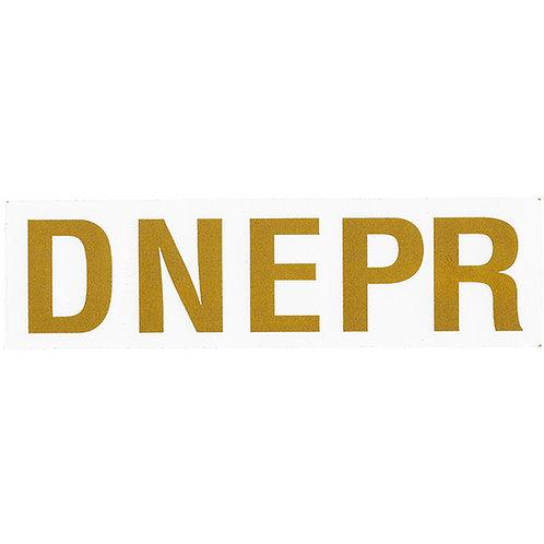 Dnepr Gold Sticker