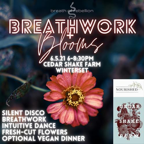 Breathwork + Blooms + Dinner