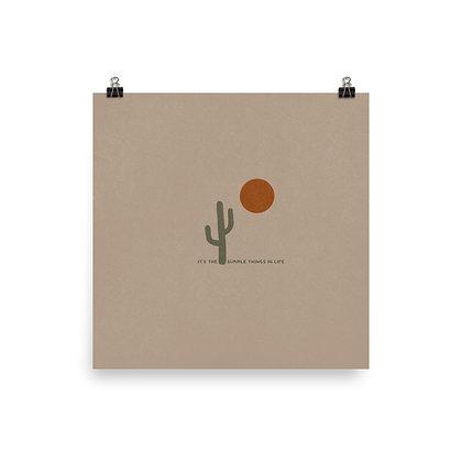 Simple Saguaro Print