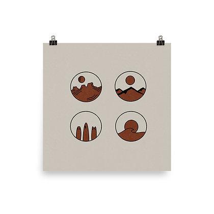 Simple Circle Designs Print