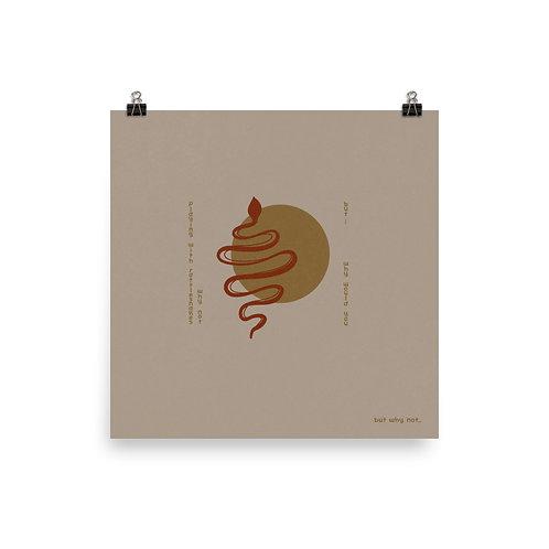 Rattlesnake Print