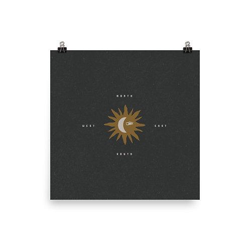 Sun Compass Print