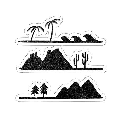 Terrains Sticker
