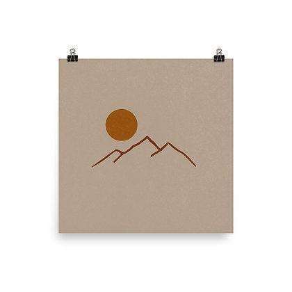 Mountains Print