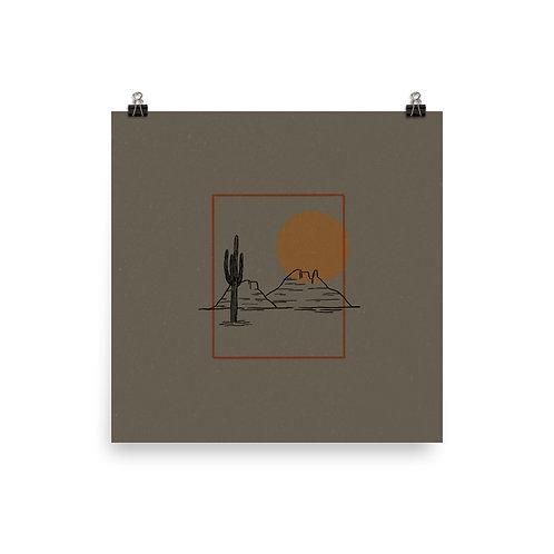 Desert, Saguaro Print