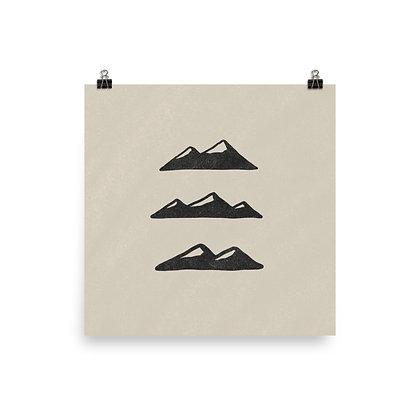 Three Mountains Print
