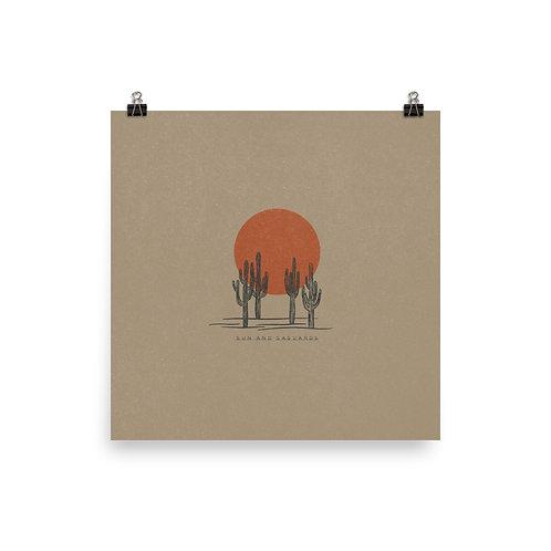 Sun and Saguaros Print