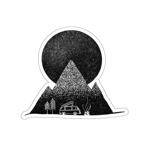 Camp Out Sticker