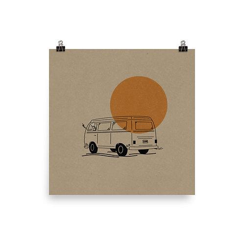 Skeleton Van Print