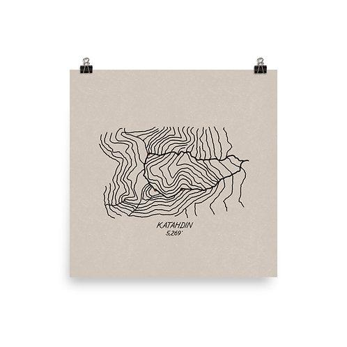 Katahdin Topographic Map Print