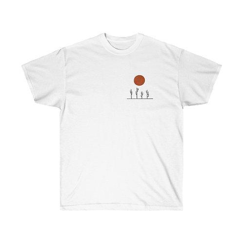 Saguaros and Red Sun - Unisex Cotton Tee