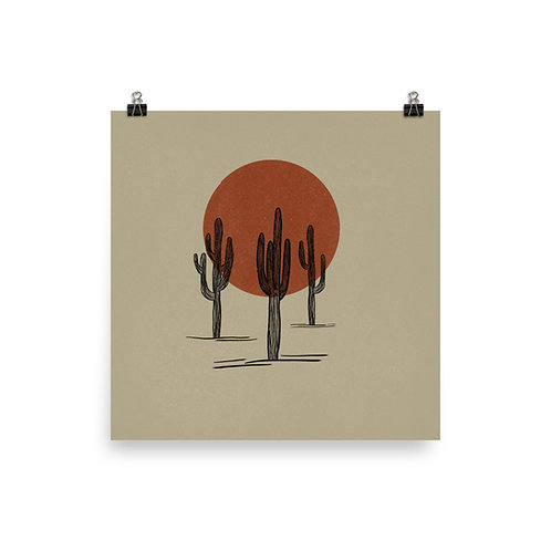 Saguaros Print