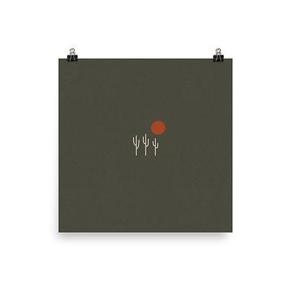 Saguaros and Sun Print