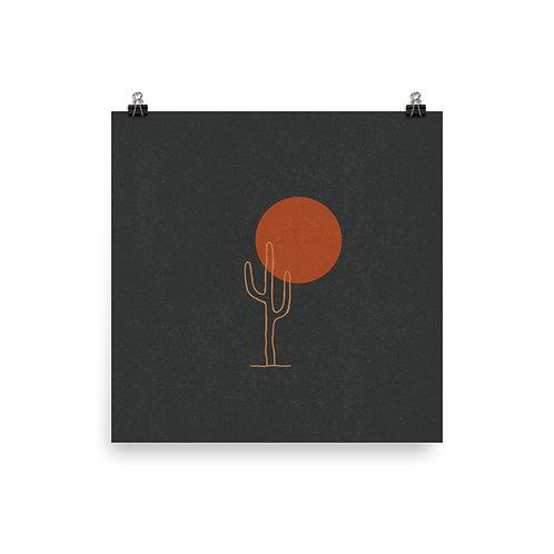 Saguaro and Sun Print