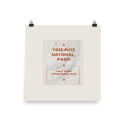 Yosemite Topographic Map Print
