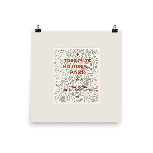 Yosemite Topographic Map Print