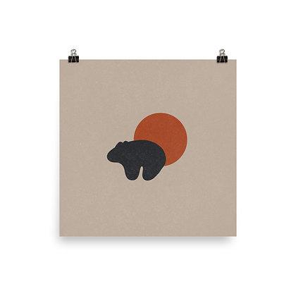 Bear and Sun Print