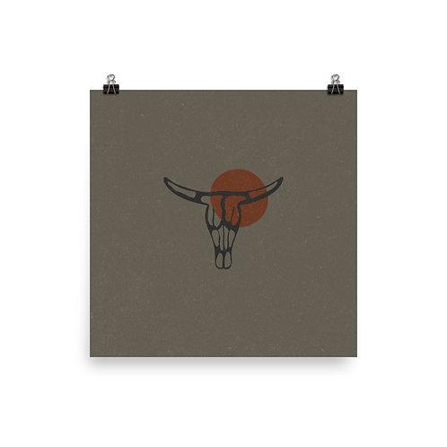 Bull Skull Print