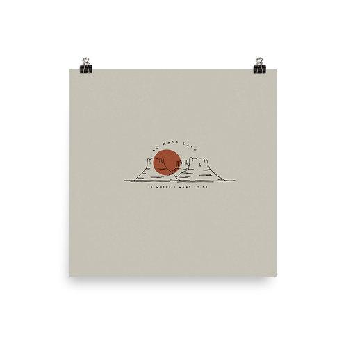 No Mans Land, Desert Print