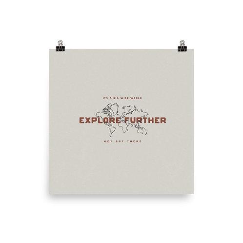 Explore Further Map Print