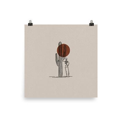 Saguaro Skeleton Print