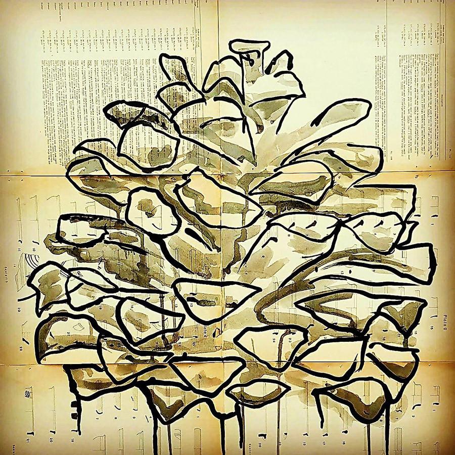 פרט מתוך עבודה של האמנית קרן פראגו. צילום: מיטל אשכנזי פומרנץפרט.