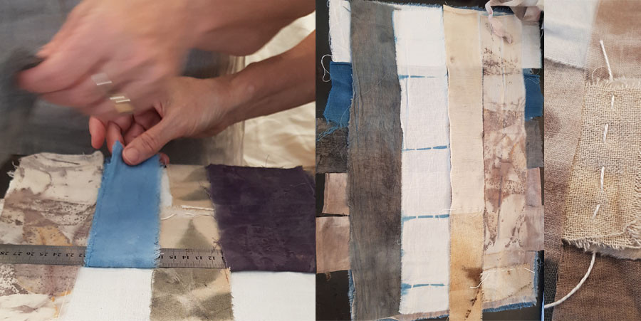 ידיים עובדות בסטודיו של לאורה באביאל.