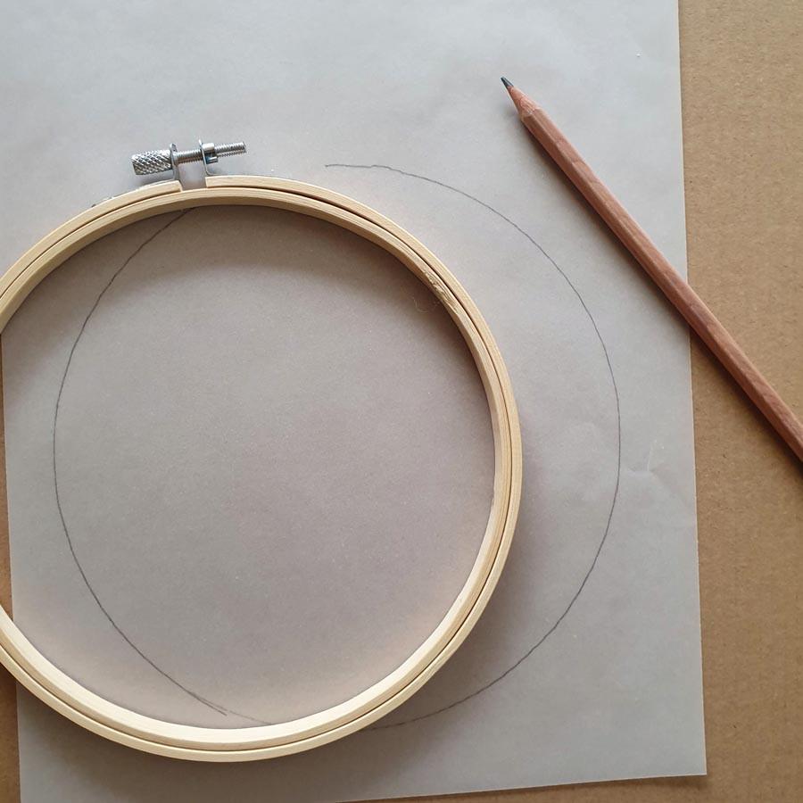 הנה ככה, מניחים את החישוק על נייר השרטוט ומסמנים את העיגול באופן מושלם