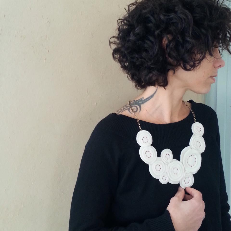 7 תכשיט לבד felt necklace