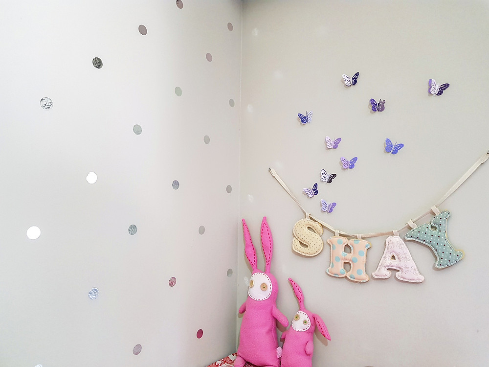 קיר מקושט בחדר ילדים