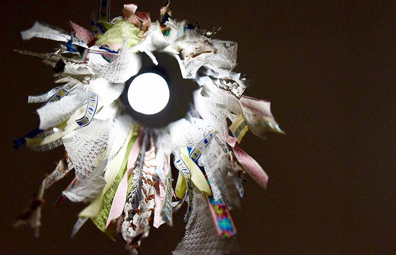 אהיל למנורה מסרטי בד בצבעים שונים