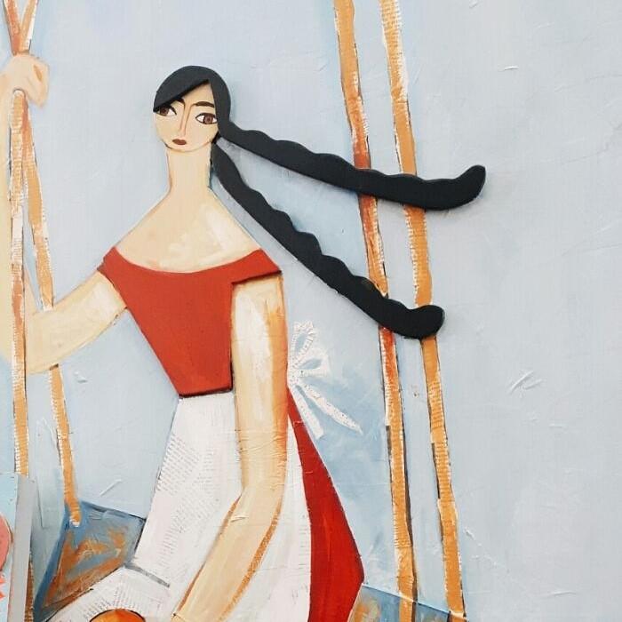 השראה. פרט מתוך עבודה של האמנית נומי מלול אוהד.