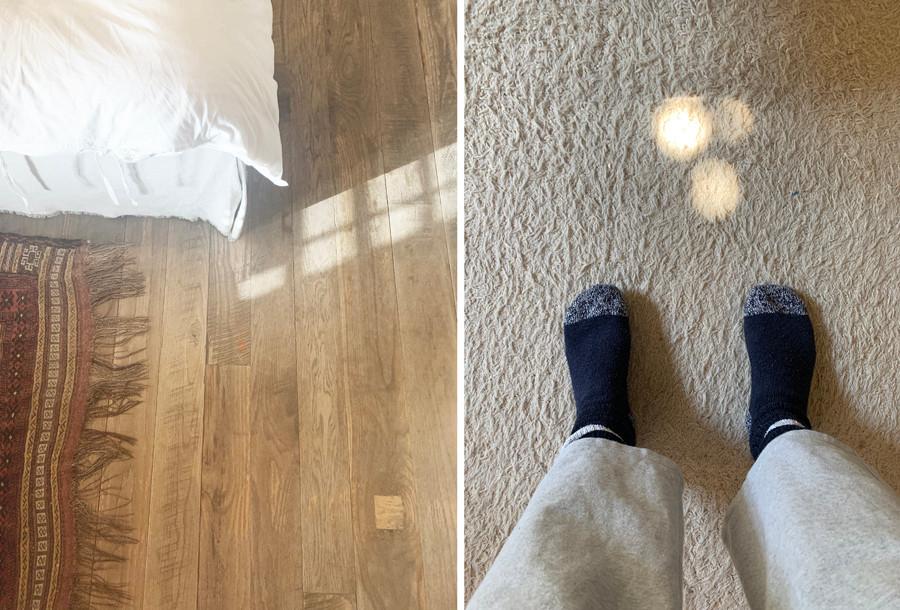 תמונה של רגש. חומרים וטקסטורות. רגליים על רצפה. צילום נעה בר לב דוידור