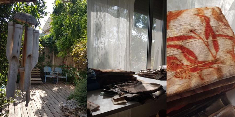 הנופים בסטודיו של לאורה מריים במושב אביאל