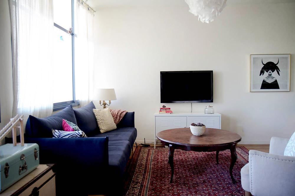 הסלון של קרן בר. תמונות מתוך הבלוג של קרן בר